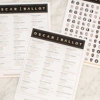 Sugar and Charm Oscar Ballot and Confetti!