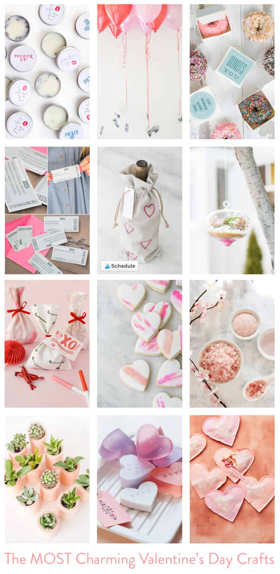 Collage of Valentine's Day Crafts