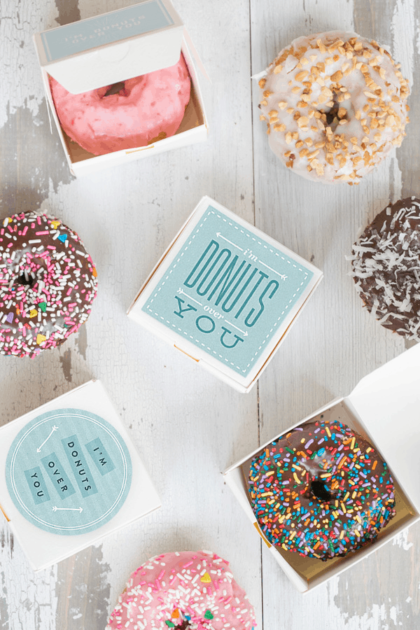 I'm Donuts Over You printable with donuts in them.