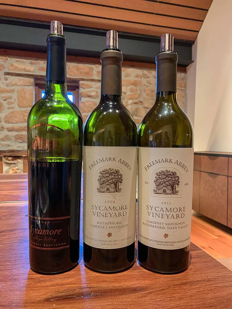 Bottles of wine from Freemark Abbey