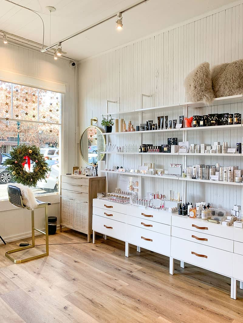 Purely Sonoma beauty store and organic hair salon in Sonoma.