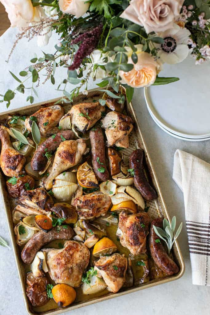 The perfect one-can chicken and sausage meal.
