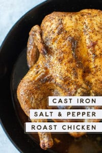 Cast Iron Salt & Pepper Roast Chicken Recipe