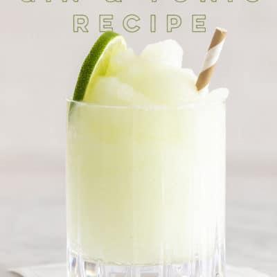 Frozen Gin and Tonic Recipe