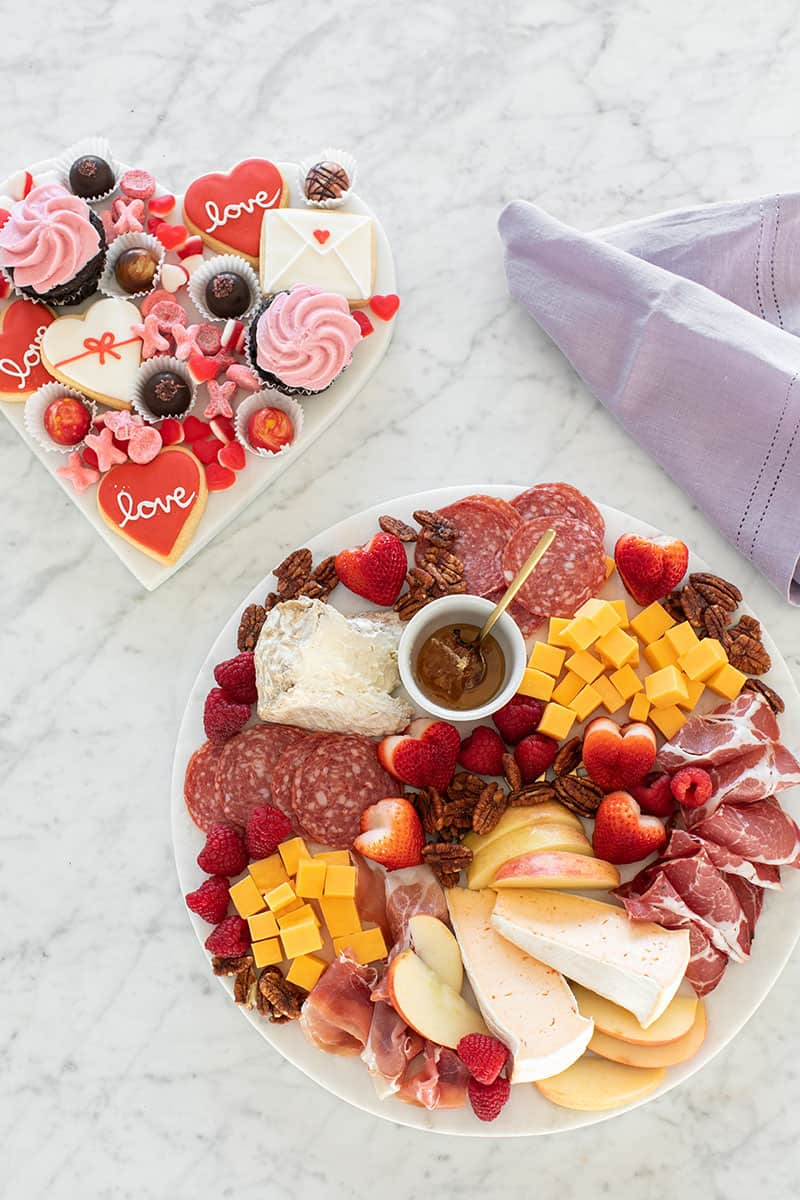 meat and cheese and dessert platter
