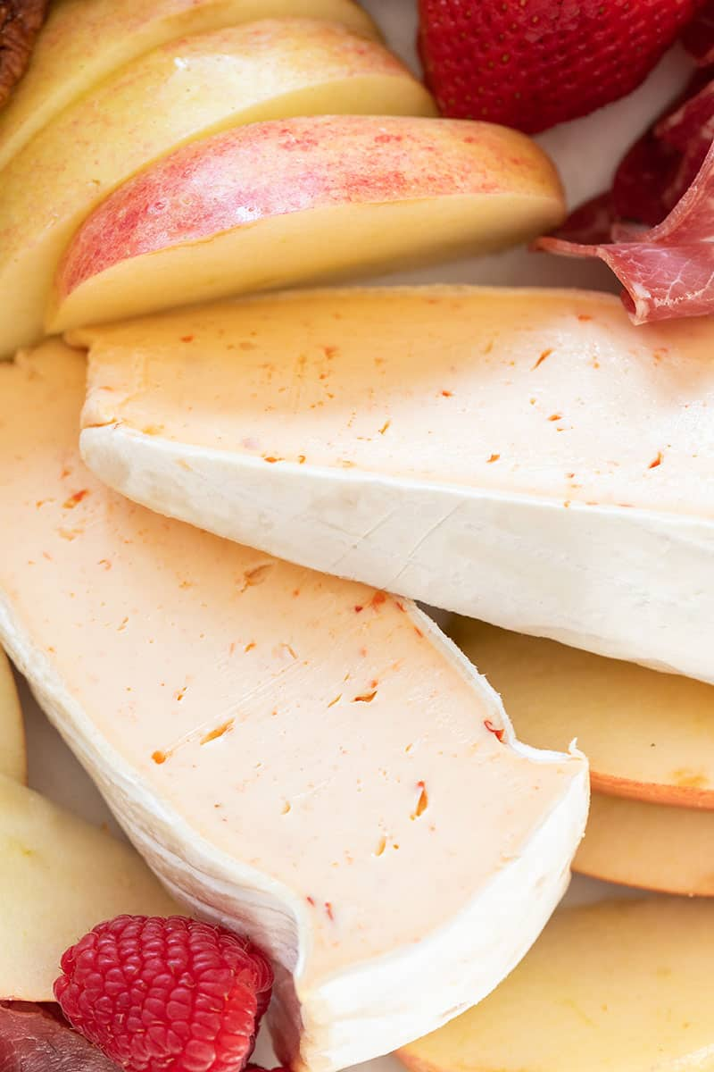 Red pepper brie cheese.