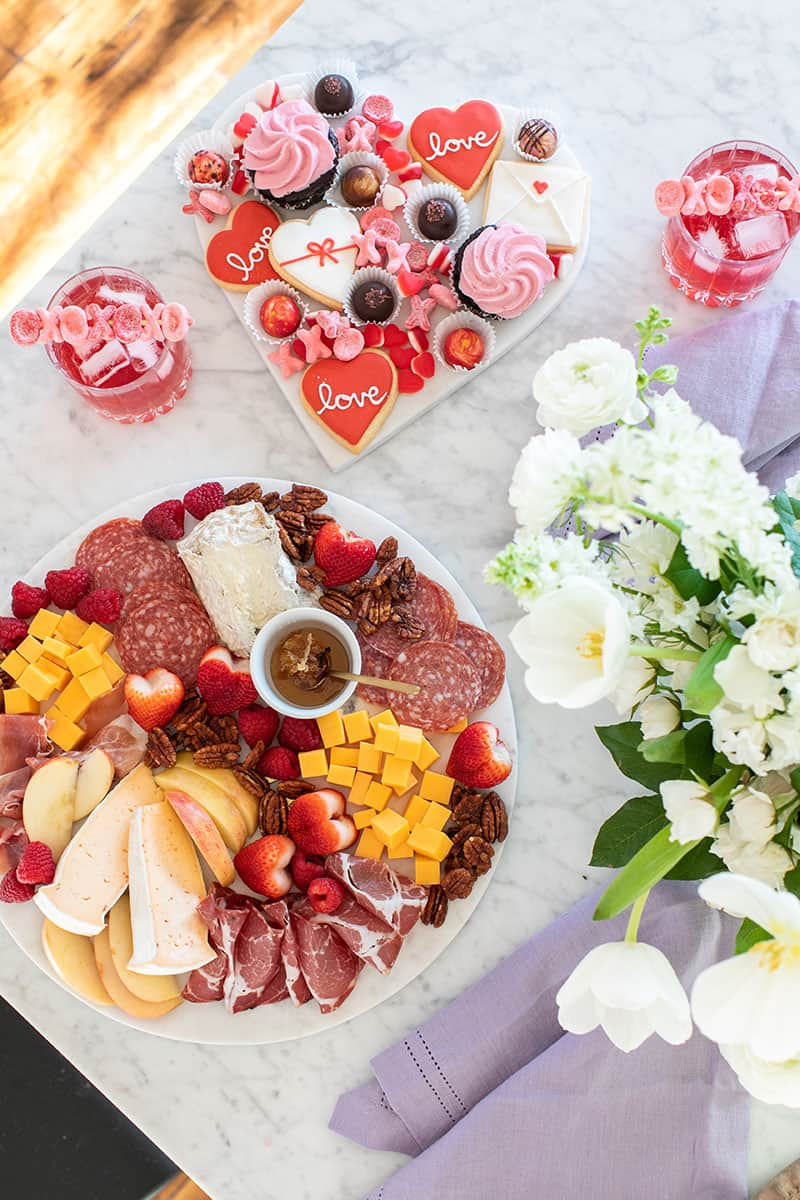 Valentine's Day Charcuterie and Dessert Platter!