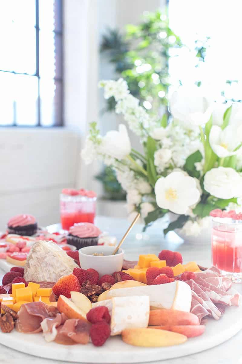 Valentine's Day Charcuterie platter and dessert platter.