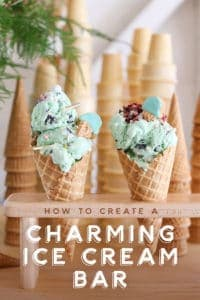 How to Create a Charming Ice Cream Bar