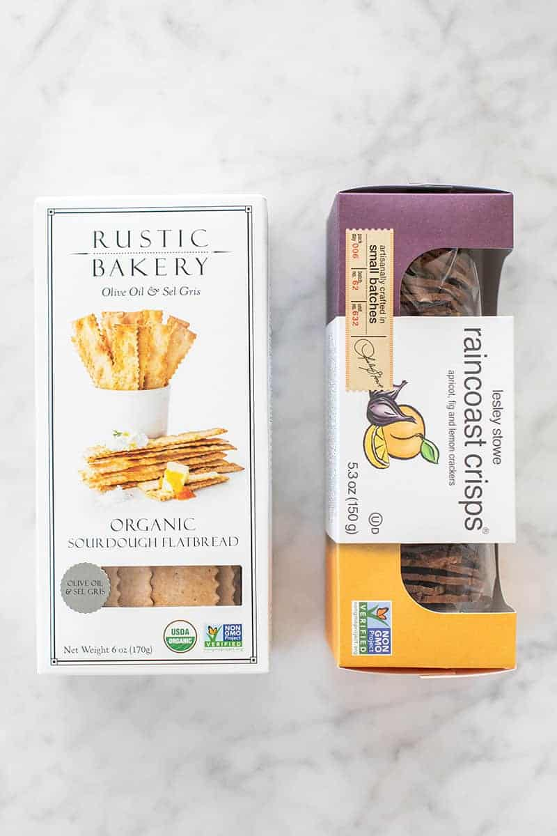 Rustic Bakery Crackers and Lesley Stowe raincoat crisps