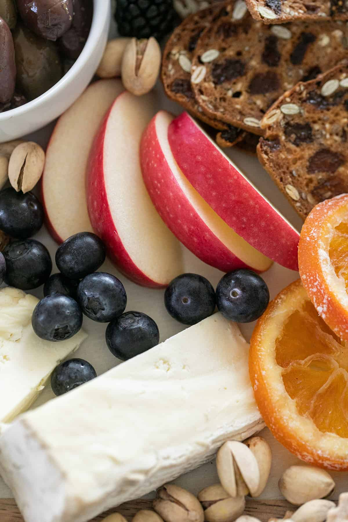 fruit on a cheese platter