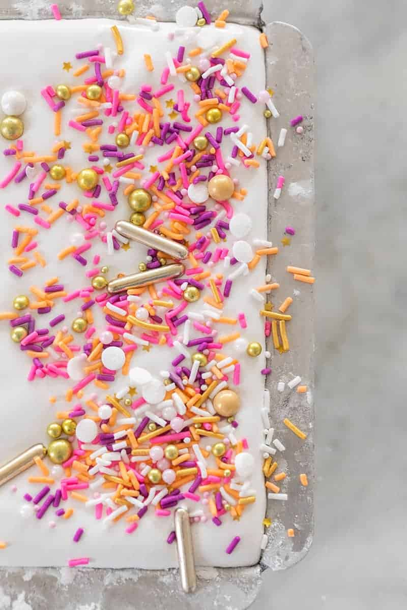 Marshmallow recipe with sprinkles