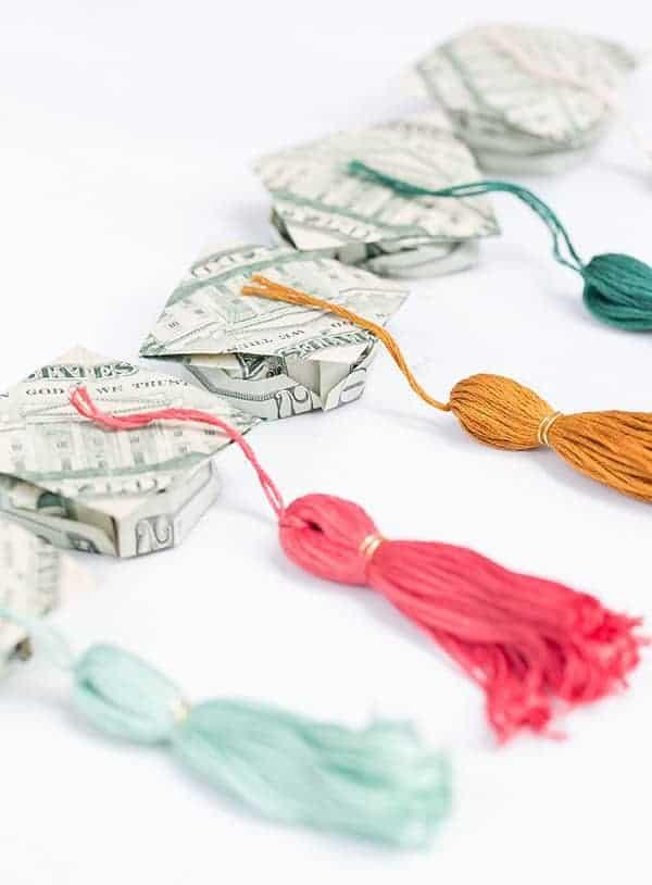 Graduation money hats with tassels