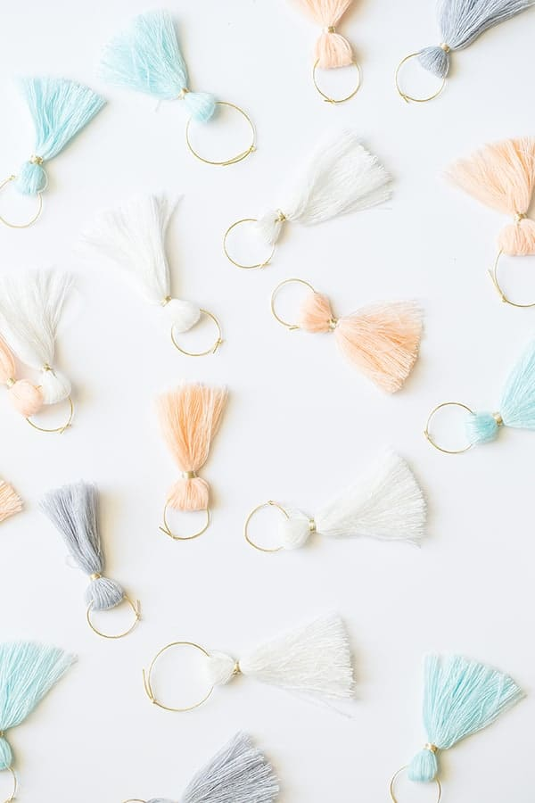 Colorful tassels for a graduation party