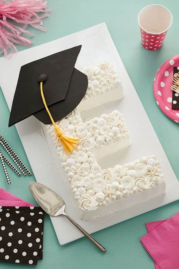 E graduation cake
