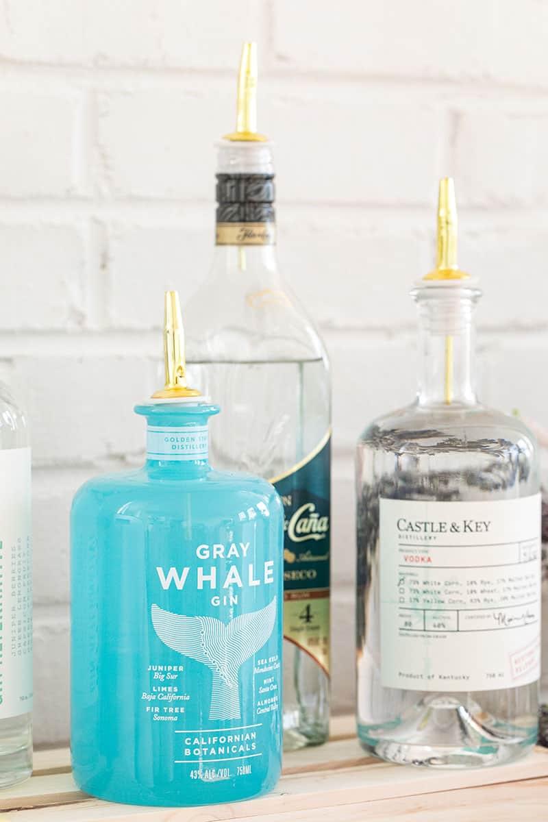 Spirit bottles.