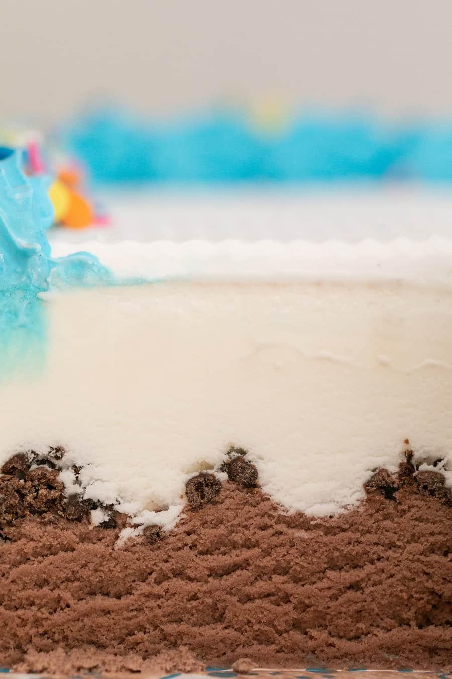 Ice cream cake close up