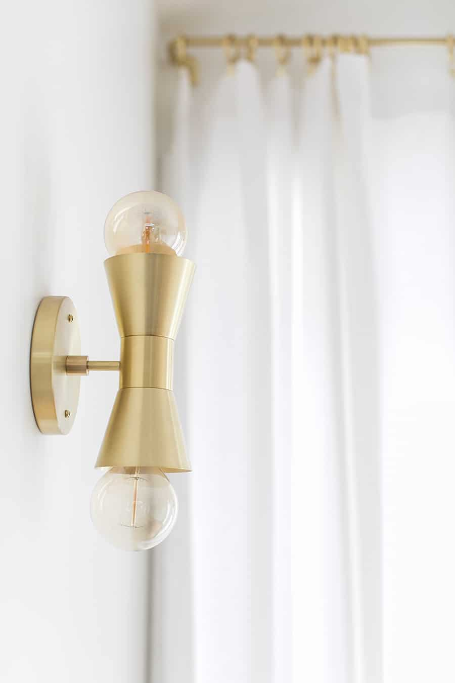 Brass light from Cedar and Moss