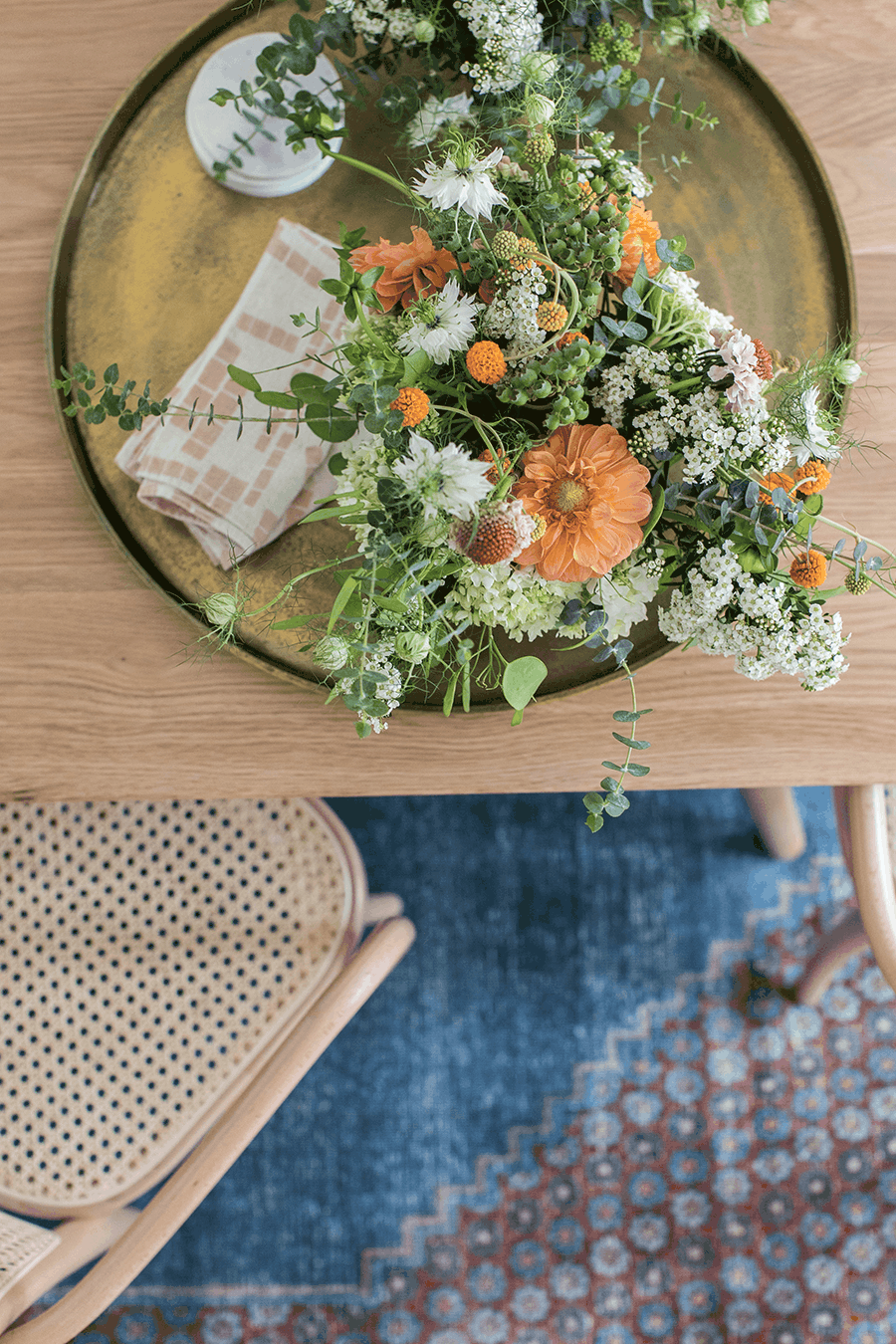 Flowers on a table for Hygge