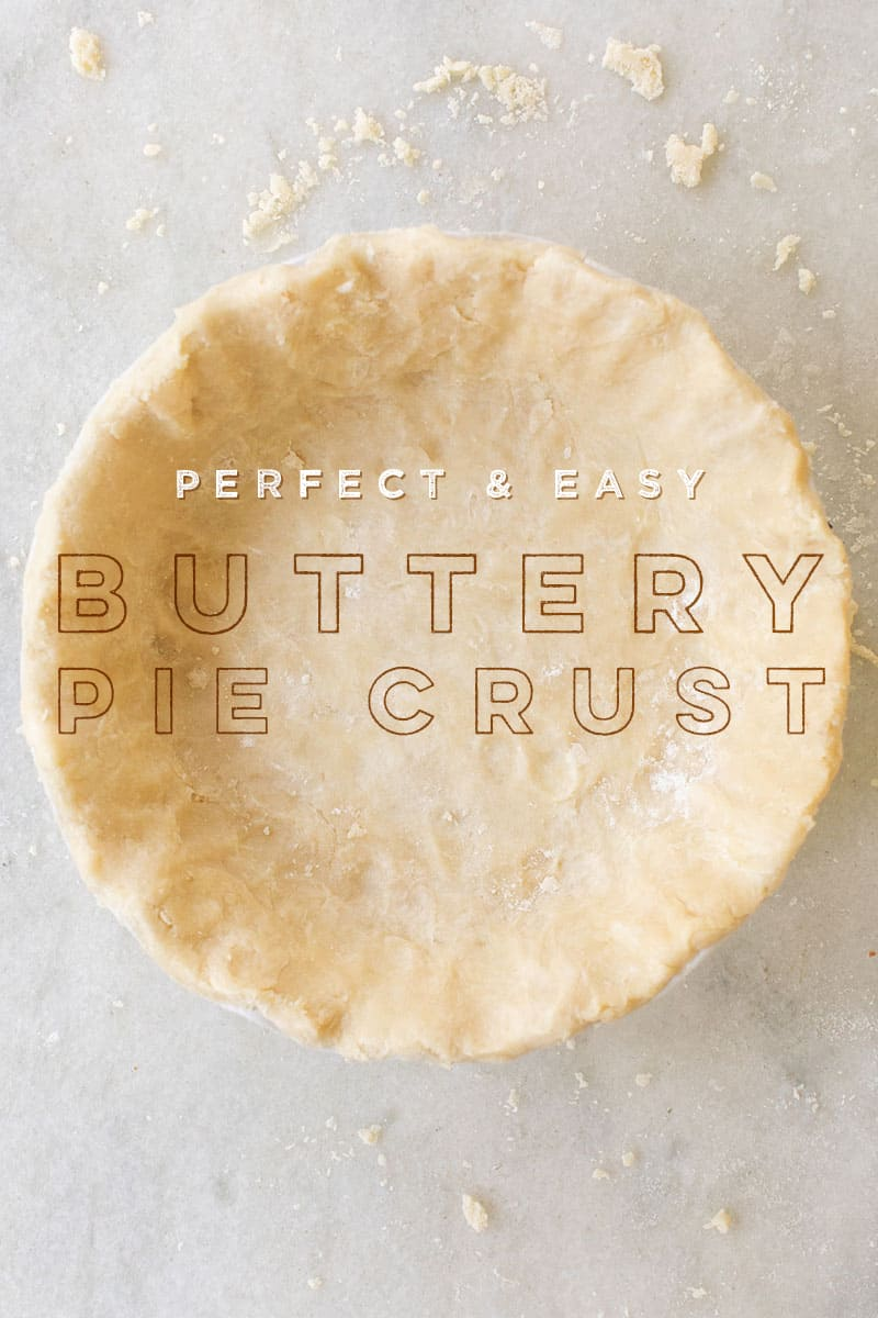 buttery pie crust on a marble table