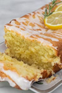 The Best Rosemary Lemon Loaf Cake