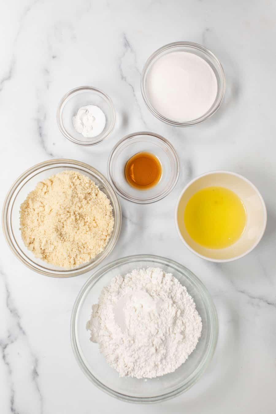 Ingredients to make macarons