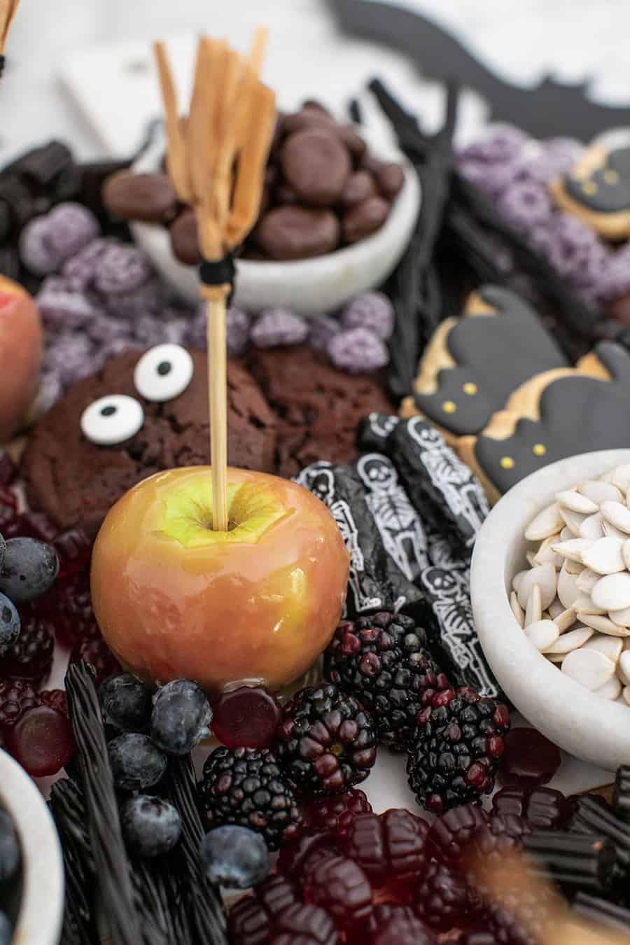 Halloween desserts on a platter.