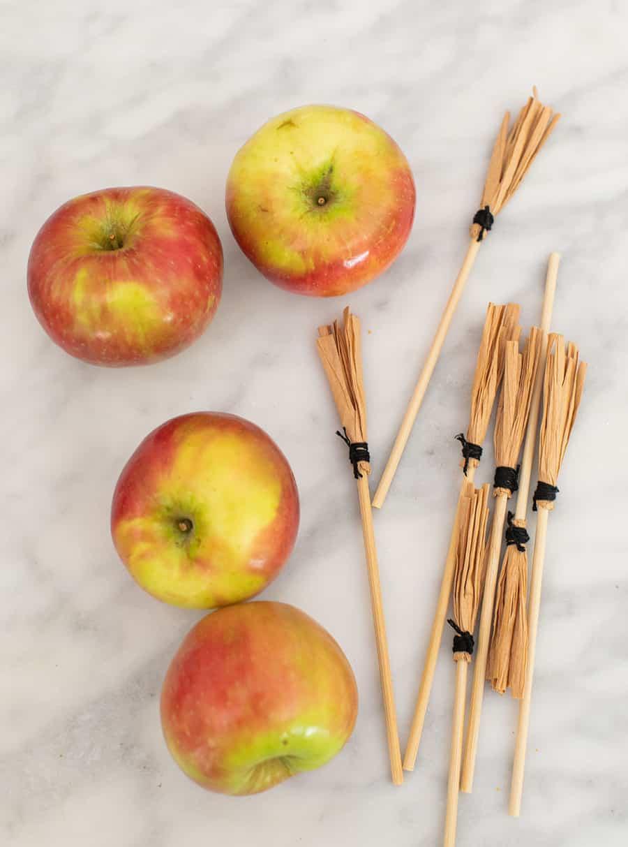 apple and broom sticks