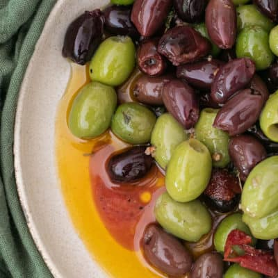 The Best Warm Marinated Olives