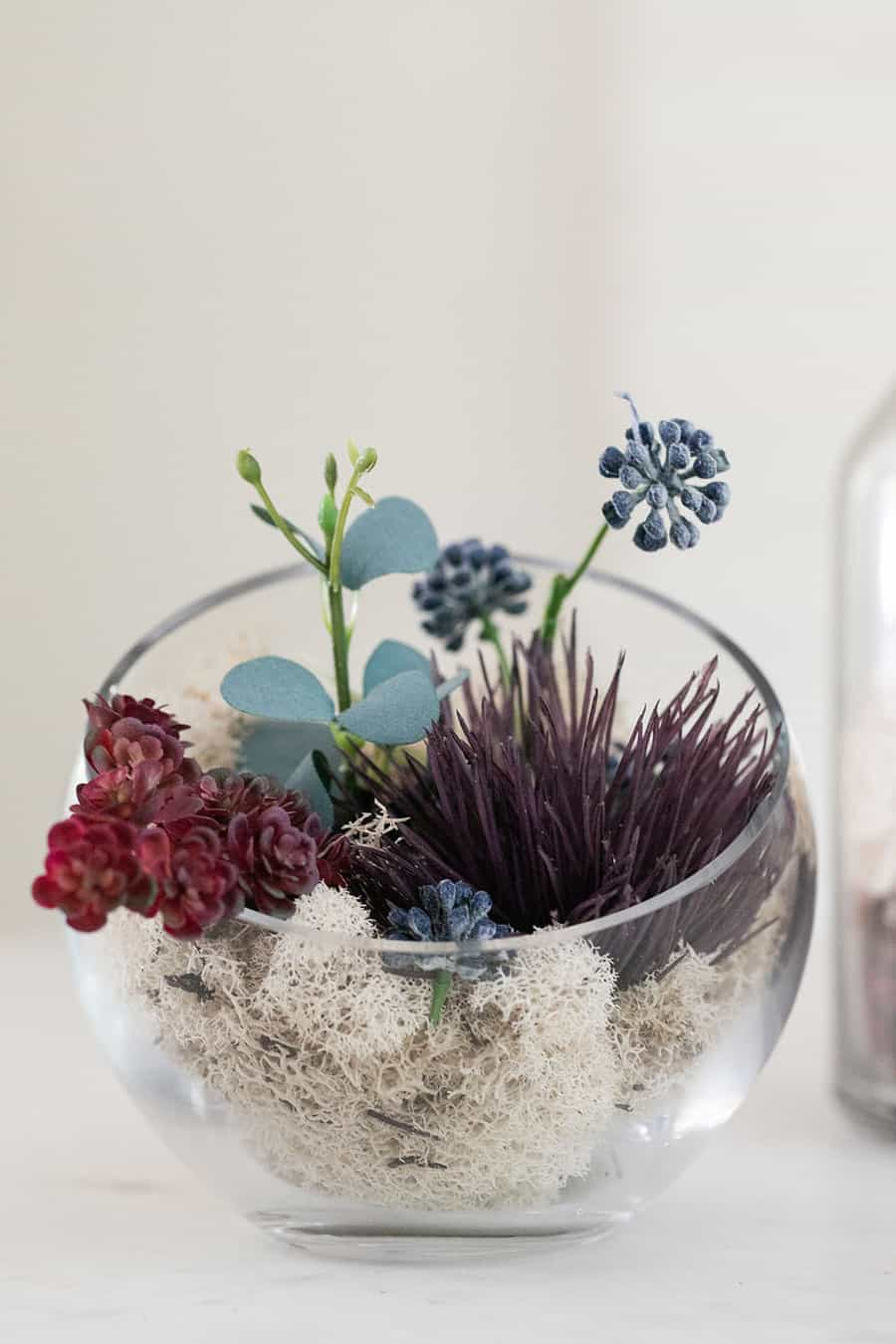fall glass terrarium