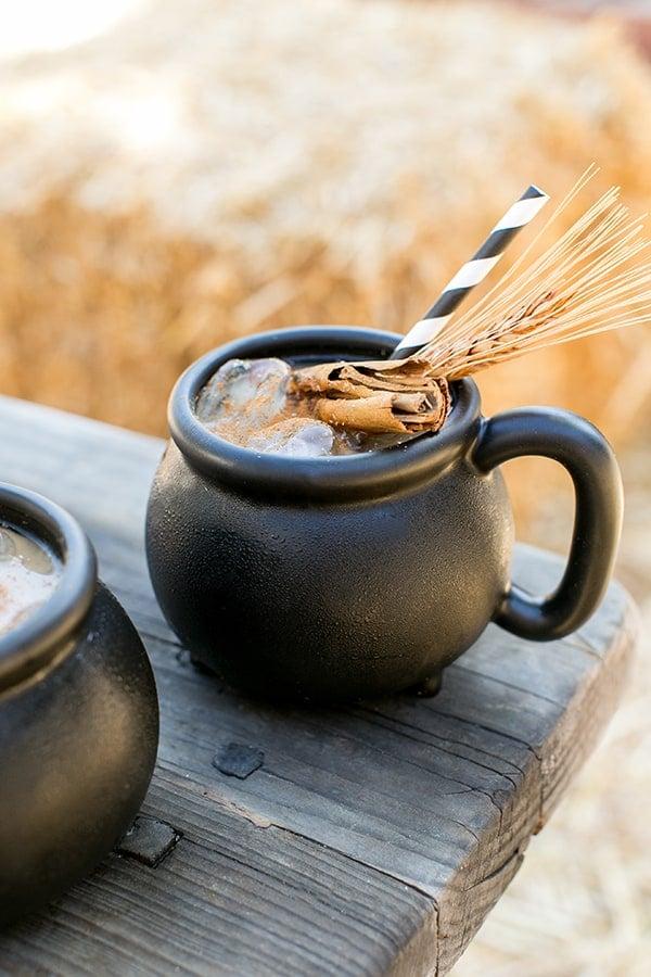 Halloween coffee with cinnamon