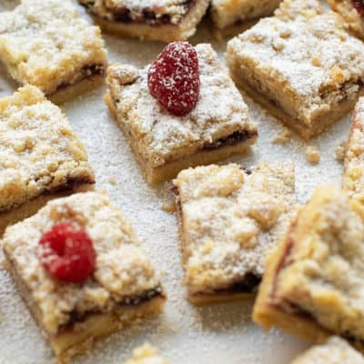 The Best Shortbread Cookie Crumble Bars!