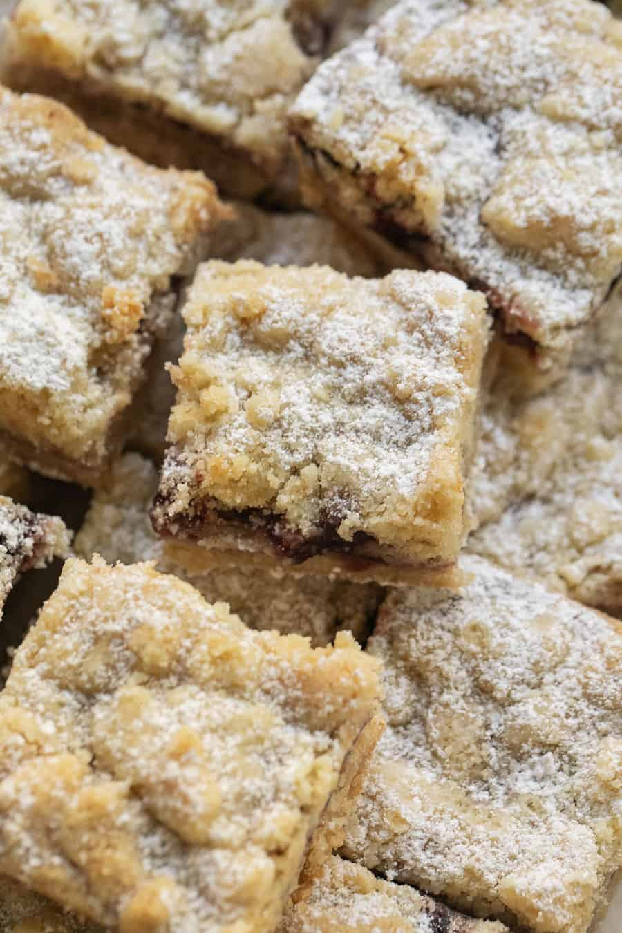 shortbread cookie crumble bars