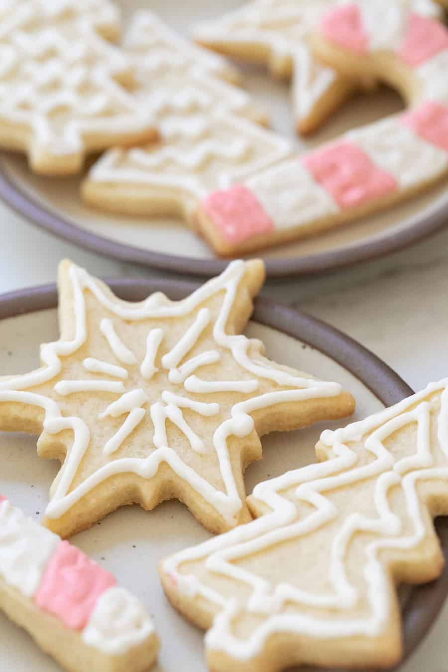 Sugar-free cookie with icing.