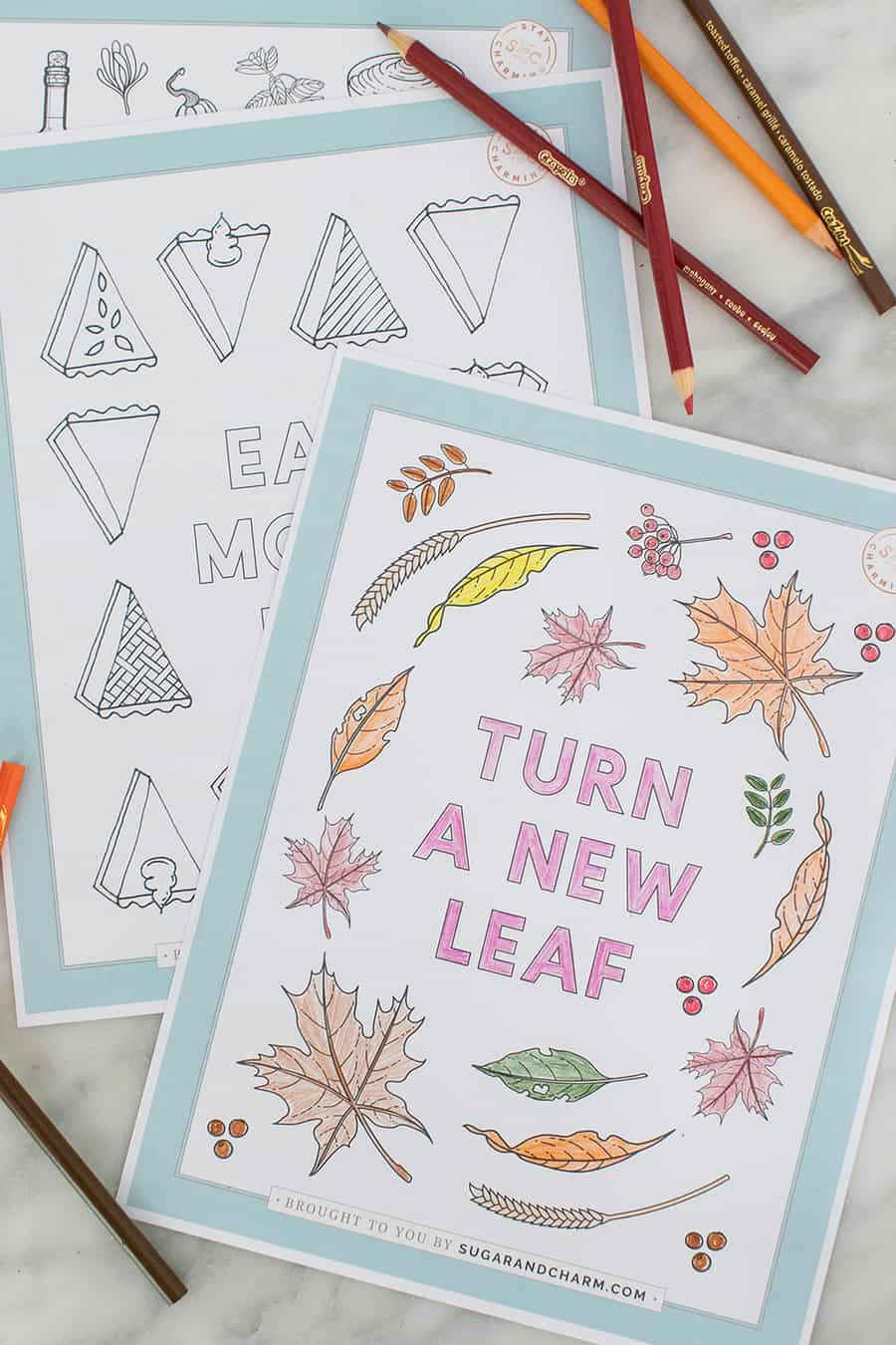Turn a new leaf coloring page