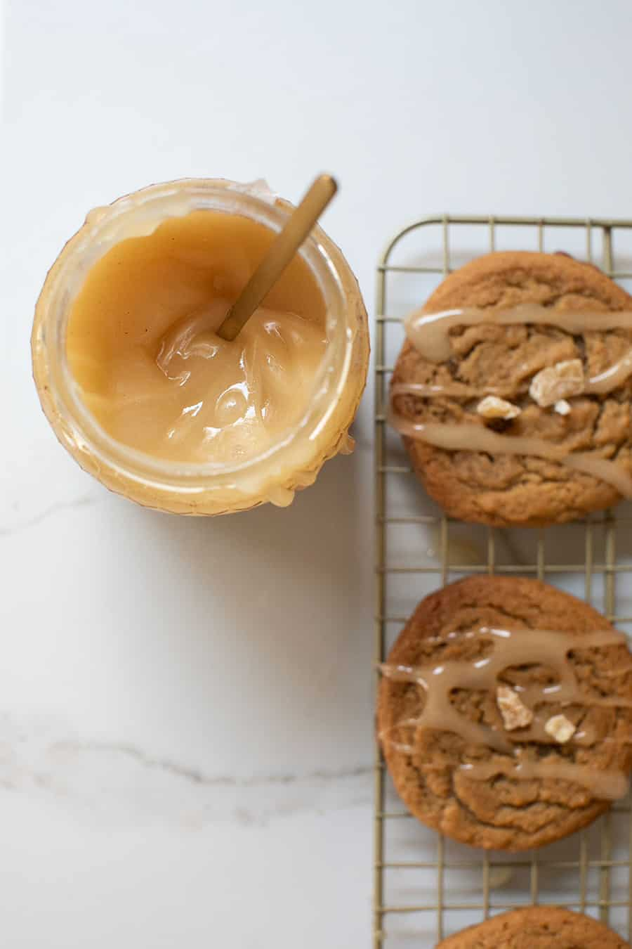 Ginger cookies drizzled with honey