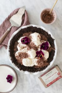 Chocolate Pie with Chocolate Crumb Crust