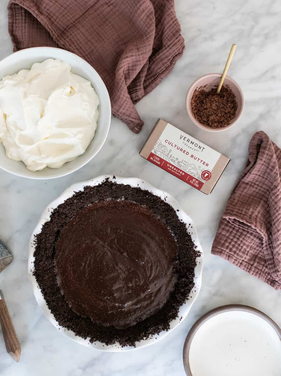 Chocolate pie with Vermont Creamery Butter