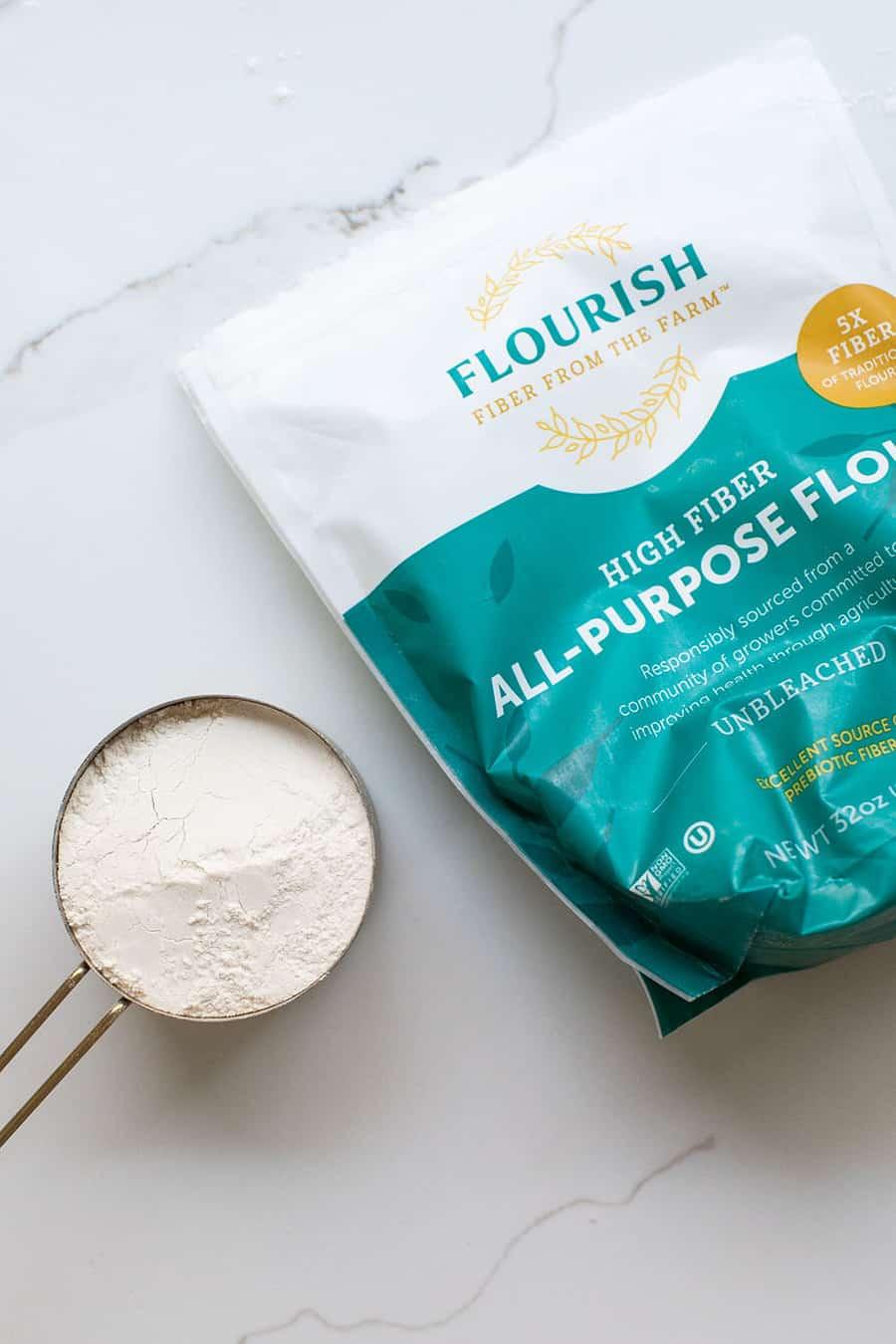 Flourish Flour an all-purpose high fiber flour for baking