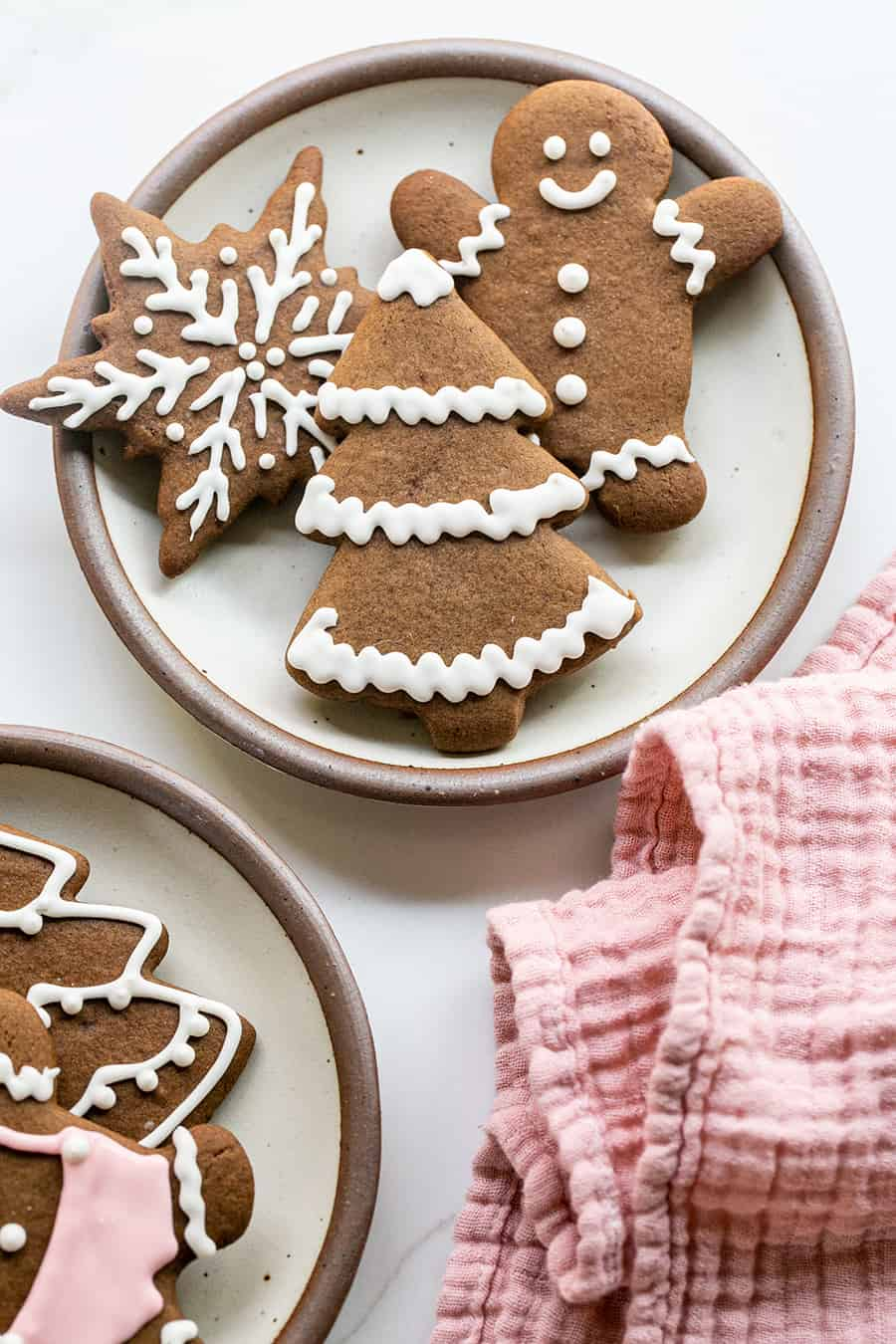 Gingerbread cookies on a plate