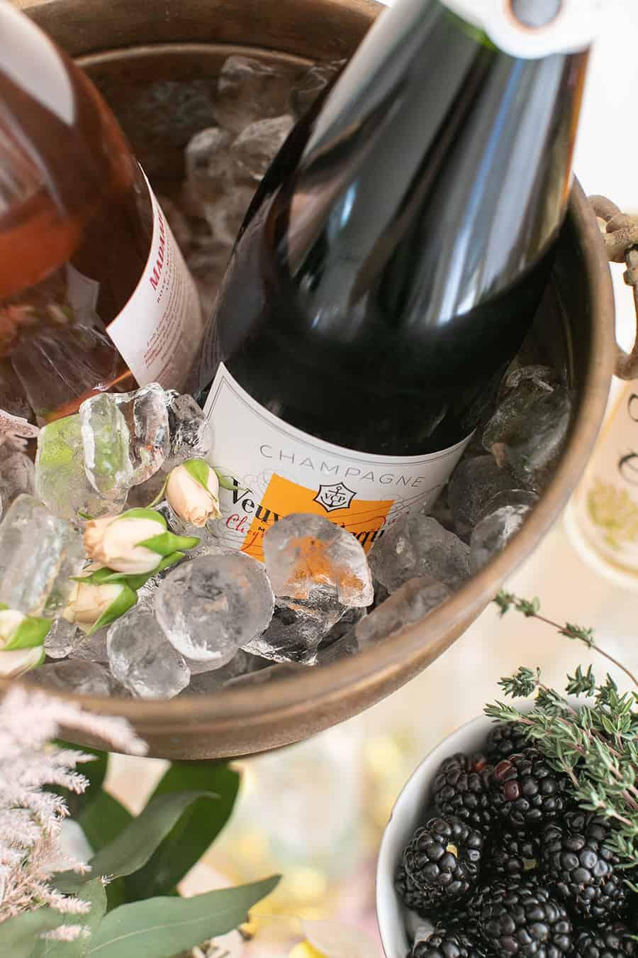 Bottle of Champagne in an ice bucket