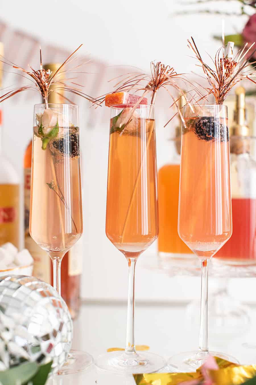 Champagne cocktails for New Year's Eve!