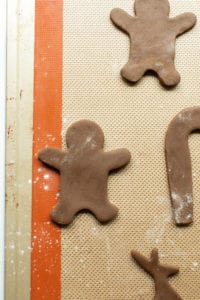 gingerbread man before baked
