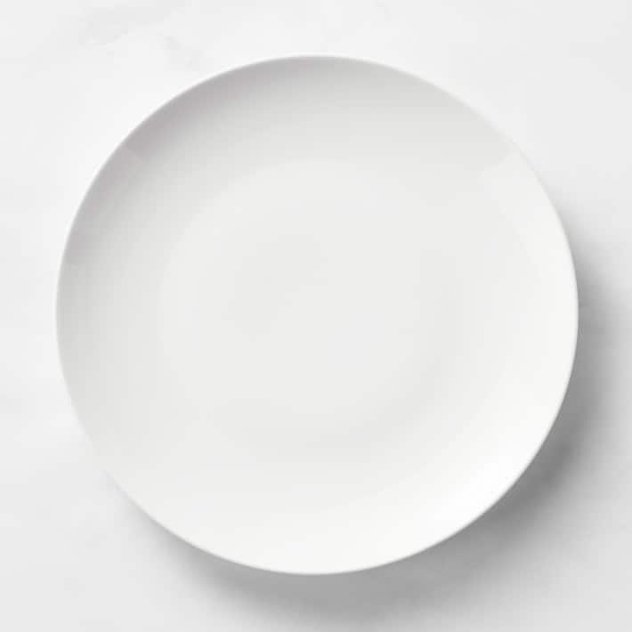 white plates from Williams Sonoma