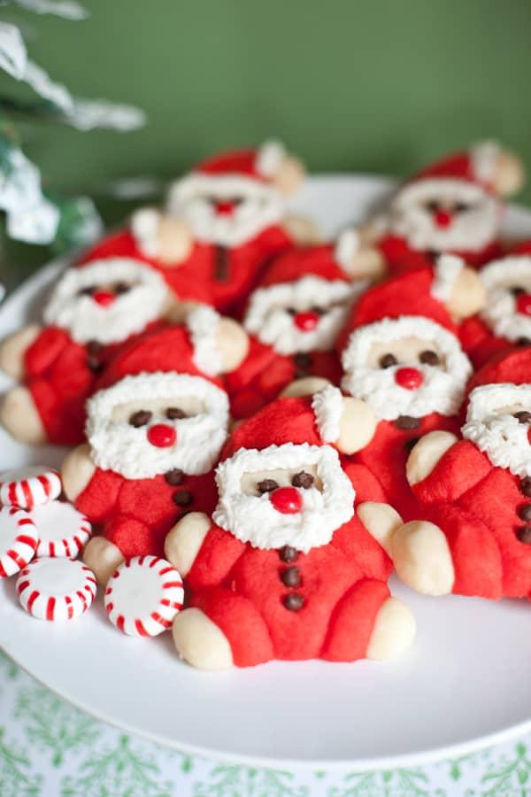 Santa Roly Poly Cookies