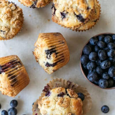 The Best, Easy Homemade Blueberry Muffins