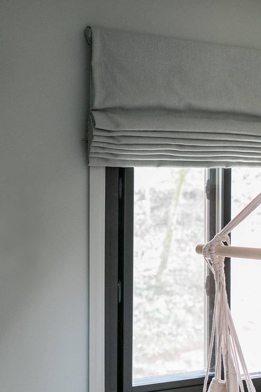 Calico Corners flat roman shades in kids bedroom