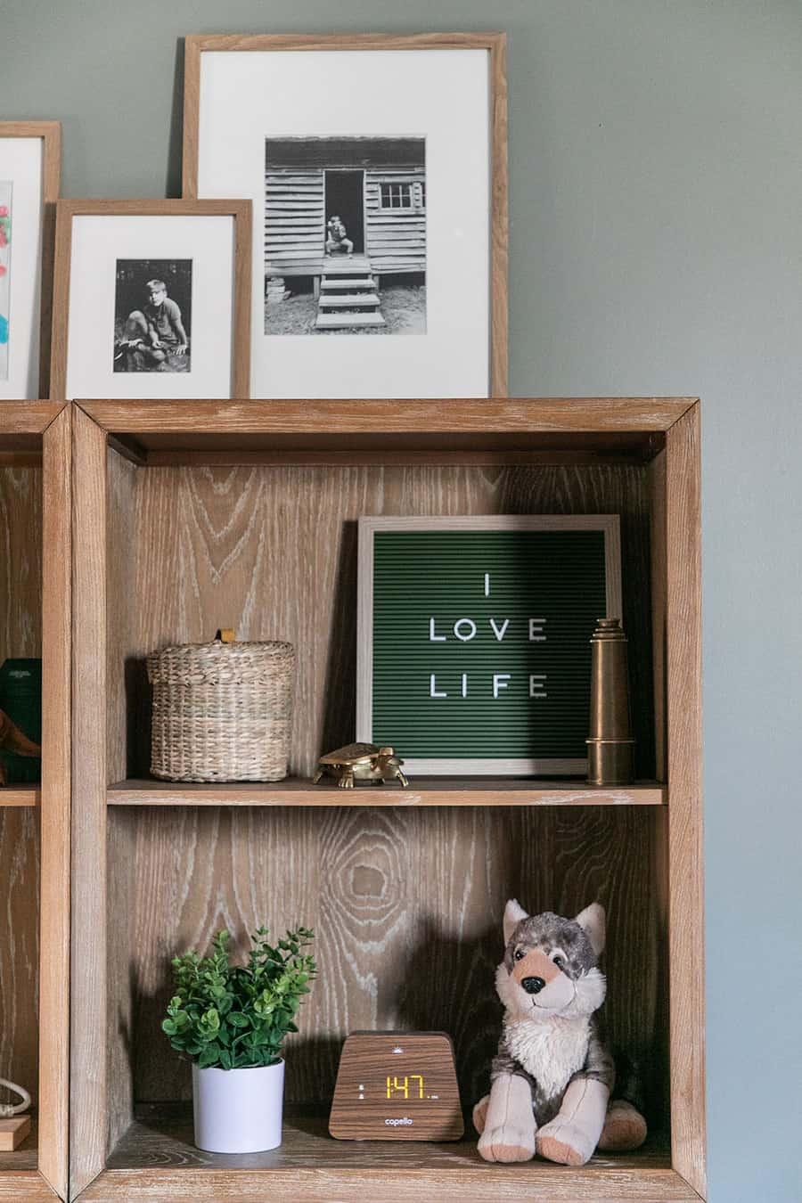 Wood shelf from Pottery Barn