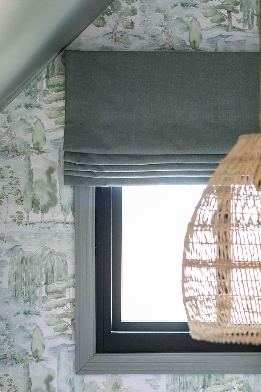 Calico Corners flat roman shade in kids bedroom