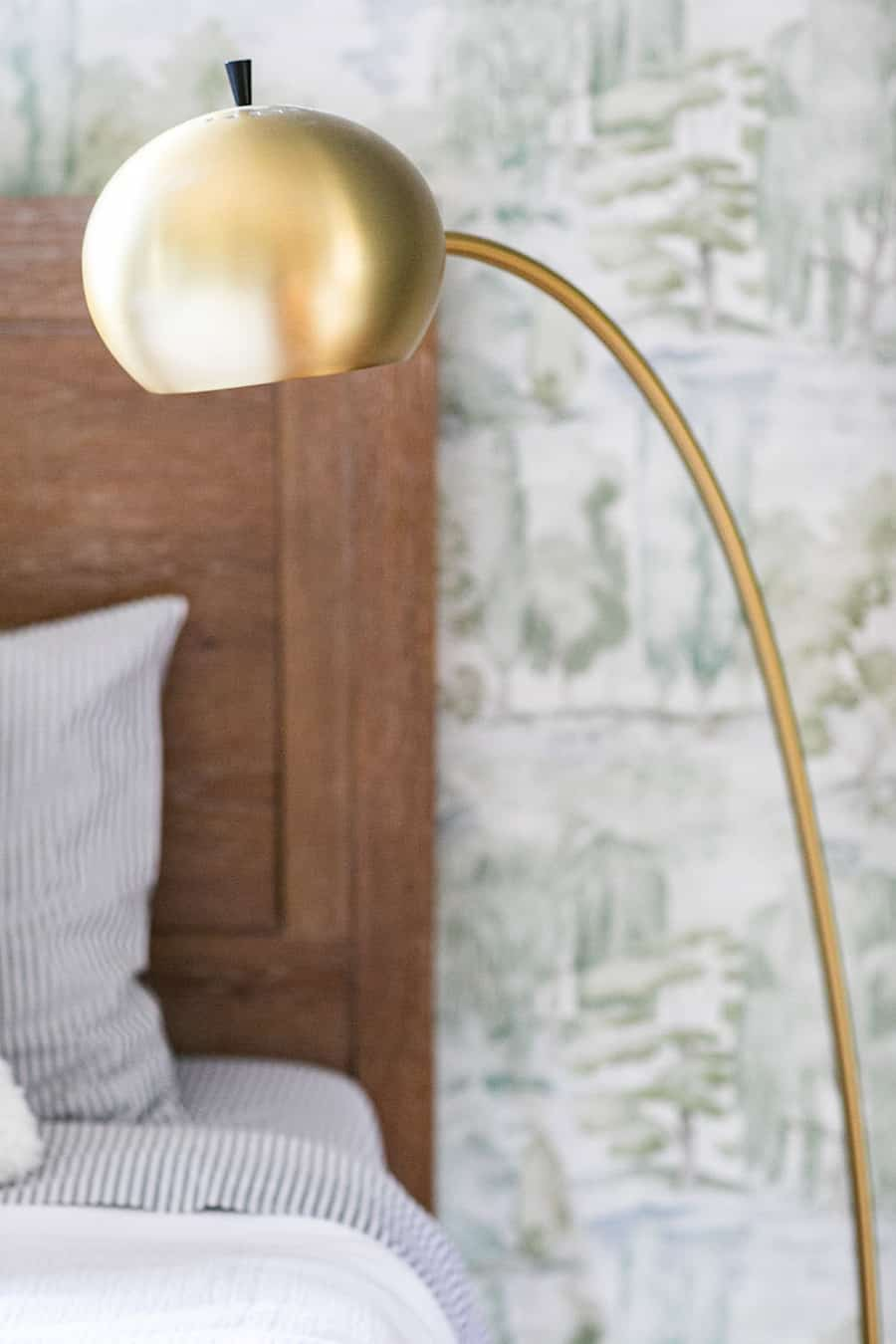 Brass lamp from Pottery Barn Teen